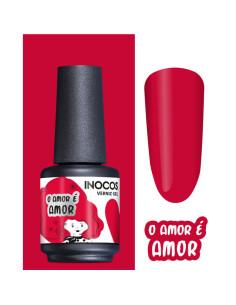 Verniz Gel Vermelho Cravo Amor é Amor 15ml - Coleção Amor é Amor INOCOS | Inocos