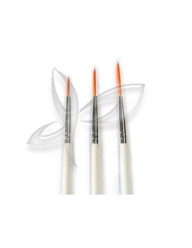 Kit 3 Pincéis Finos Art Nail | Pincel para Unhas