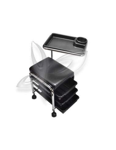 Carrinho Manicure em Preto Cadeiras e Carrinhos de Manicure e Pedicure