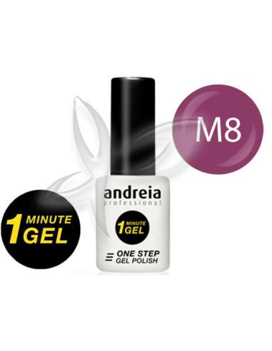 Verniz Gel 1 Minute M8  Verniz Gel 1 Minute  Andreia Higicol