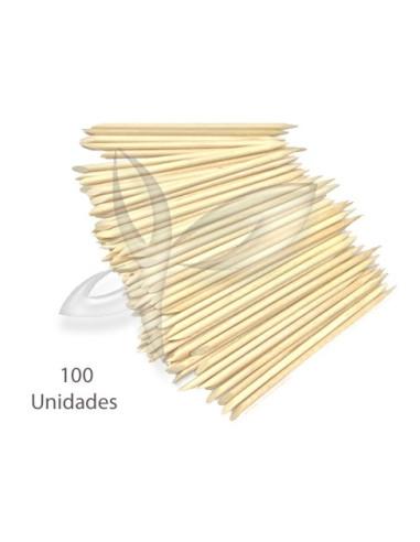 100 Paus Laranjeira - 12 cm Corta-calos, Lâminas, Taças, entre outros