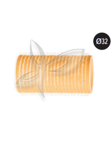 6 Rolos Aderentes - Amarelo - 32mm Rolos e Bigoudis
