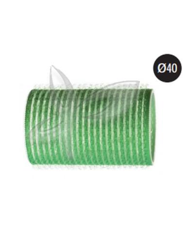 3 Rolos Aderentes - Verde - 40mm Rolos e Bigoudis