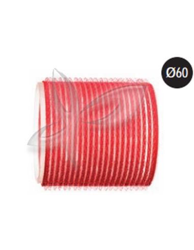 Rolos Aderentes - Vermelho - 60mm Rolos e Bigoudis