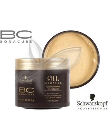 Máscara Brilho de Ouro - Oil Miracle - 150ml Bonacure Schwarzkopf Oil Miracle