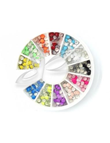 Carrossel Art Nail Pedras Coloridas   Nail Art
