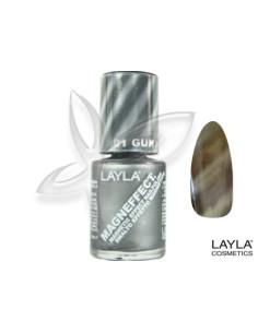 Verniz Gel Layla Magneffect 06 Golden Nugget 10ml Nail Polish desc  