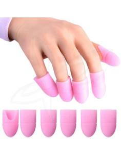 5 Dedeiras Removedoras  Verniz Gel em silicone | Acessórios para Unhas