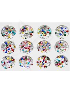 Pack Cristais Coloridos Vários tamanhos pequenos Art Nail | Bijutaria  Nail Art