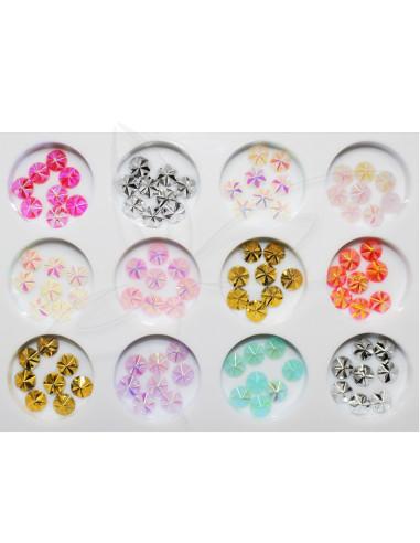 Pack Tachas Coloridas Médias Art Nail | Bijutaria  Nail Art
