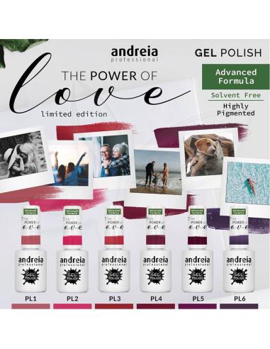 """Verniz Gel Andreia Coleção """" The Power of Love"""" Andreia (Edição Limitada) Verniz Gel ANDREIA"""