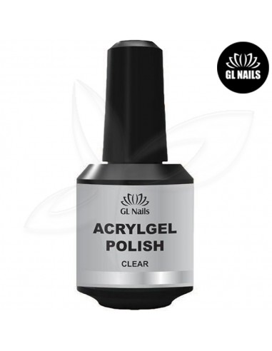 Base e Alongamento Acrylgel Polish Clear 15ml Acrílico GLNAILS Gl Nails