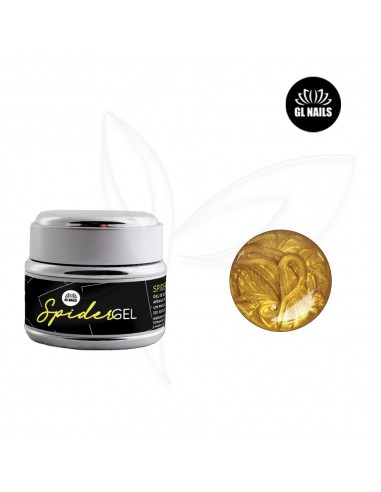Spider Gel - Dourado - 5 ml - Glnails Spider Gel - Alta Viscosidade Gl Nails