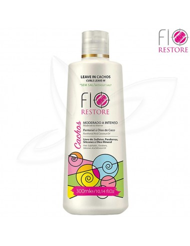 Leave-In Cachos Moderado a Intenso 300ml - Fio Restore Cachos