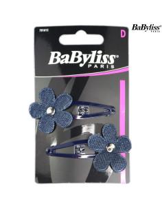 Pack 2 Ganchos Cabelo - Flores Azul - Babyliss desc | Frizetes | Ganchos | Molas