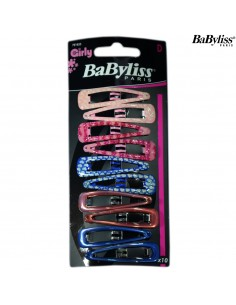 Pack 10 Ganchos Girly - Rosa / Azul - Babyliss desc | Frizetes | Ganchos | Molas