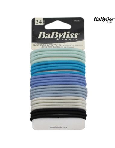 Pack 24 Elásticos Cabelo - Babyliss desc Frizetes, Ganchos, Molas, entre outros Babyliss