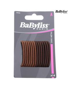 Elásticos Cabelo - Castanho - Pack 14 Babyliss desc | Frizetes | Ganchos | Molas