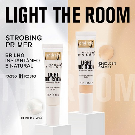 Strobing Primer - Light The Room 14ml - Andreia Makeup Rosto Andreia Higicol