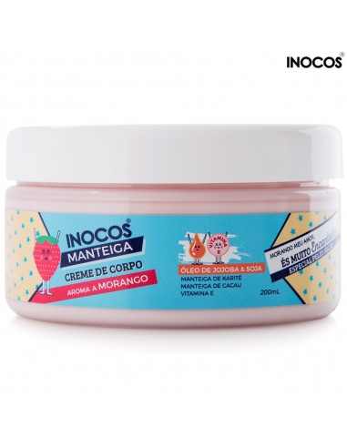 Manteiga Corporal Morango 200ml Inocos