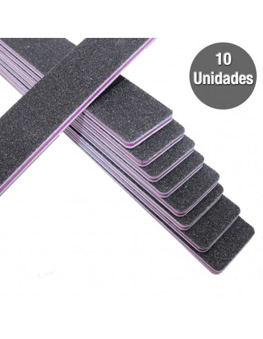 Pack 10 Limas Rectangulares Pretas Limas p/ unhas artificiais