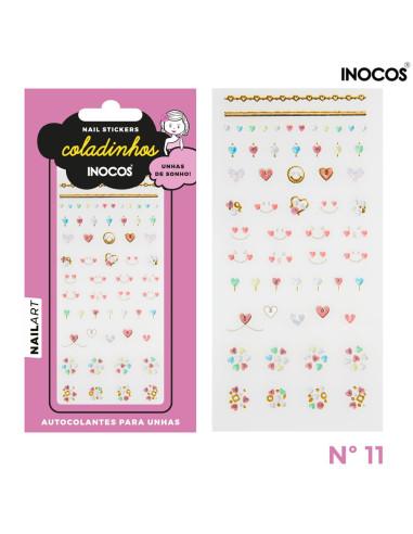 Nail stickers Inocos Coladinhos nº11 Nail Art Inocos Inocos