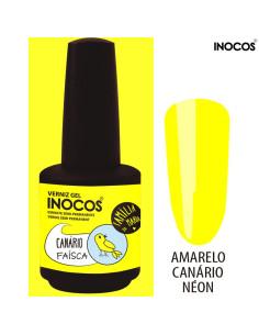 Canário Faísca Verniz Gel 15ml - Inocos | INOCOS Verniz Gel