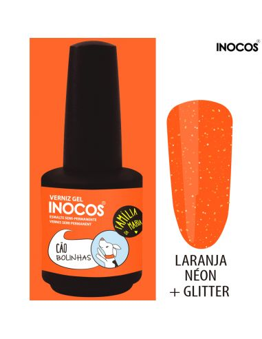 Cão Bolinhas Verniz Gel 15ml - Inocos | INOCOS Verniz Gel