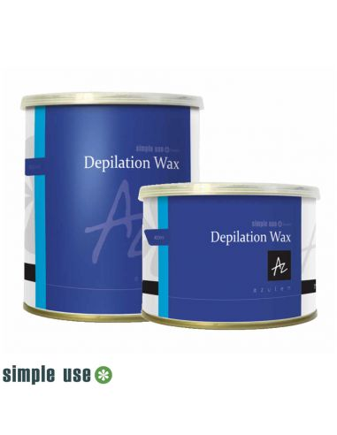 Cera Depilatória Lata 400ml - Azuleno - Simple Use