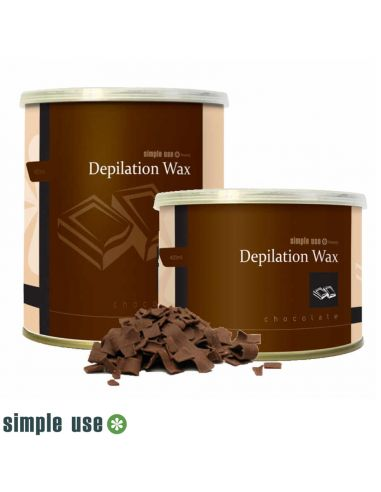 Cera Depilatória Lata 400ml - Chocolate - Simple U