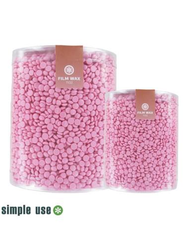 Cera Depilatória Granulada 1kg - Rosa - Simple Use |  | Discos de Cera