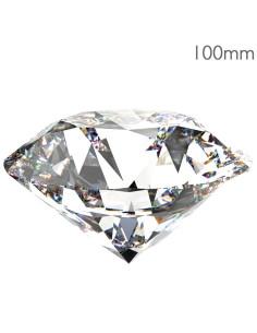 Cristal Swarovski em Forma Diamante 100mm  