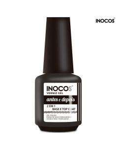 Base e Top Coat - Antes e Depois 15ml Verniz Gel Inocos | INOCOS Complementos