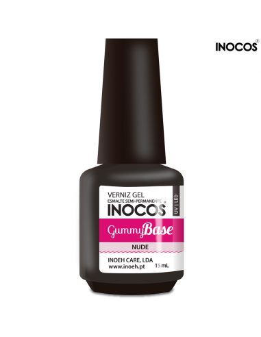 Gummy Base Nude Verniz Gel 15ml Inocos