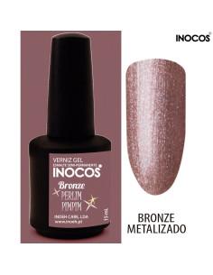 Bronze Perlimpimpim Verniz Gel 15ml Inocos | INOCOS Verniz Gel
