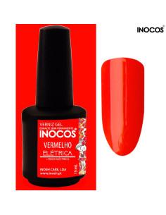 Maria Elétrica Vermelho Verniz Gel 15ml Inocos | INOCOS Verniz Gel