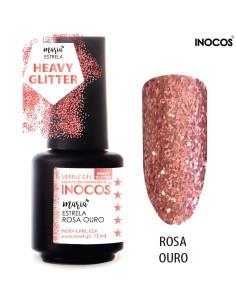 Maria Estrela Rosa Ouro Verniz Gel 15ml Inocos | INOCOS Verniz Gel