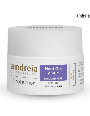 Hard Gel 2 em 1 Andreia - Soft White 44gr