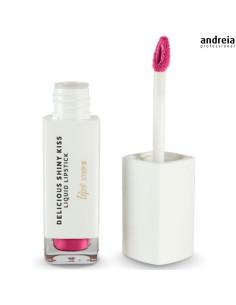 Batom Líquido Fuchsia 12 Delicious Shinny Kiss - Andreia Makeup | Lábios