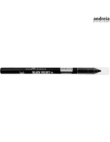 Lápis Preto Waterproof - Black Velvet 12h - Andreia Makeup Olhos Andreia Higicol
