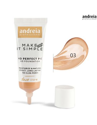 Base 03 HD Perfect PIC - Andreia Makeup | Rosto