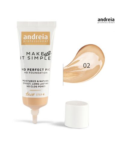 Base 02 HD Perfect PIC - Andreia Makeup Rosto Andreia Higicol