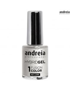 Verniz Andreia Hybrid Gel H85 Sonhadora Glitter branco com reflexos prateados | Andreia Higicol | Manicure e Pedicure