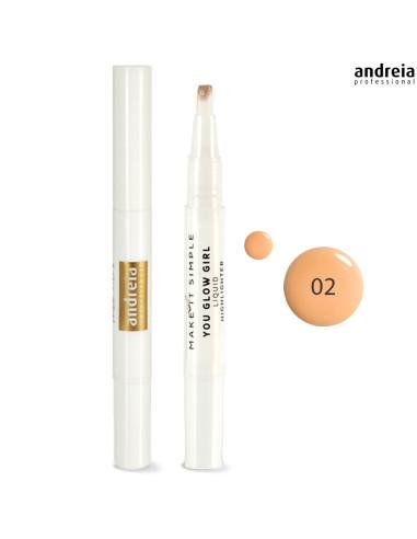 Andreia Makeup YOU GLOW GIRL - Iluminador Líquido 02 Rosto Andreia Higicol