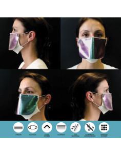 Mascara Reutilizável/ Lavável Modelo c/pala Colorida V4C | Máscaras Descartáveis