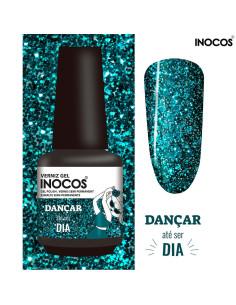 Verniz Gel Azul Glitter Oceano Dançar até ser Dia Inocos Maria à Solta | INOCOS Verniz Gel