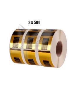 3 x Molde p/ unha Rectangular 500unid. | Tips Unhas