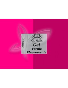 Florescente Poppy florescente   Verniz Gel Fotoluminescentes