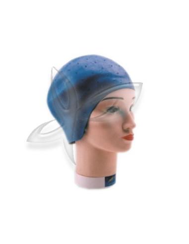 Touca Madeixas Borracha Azul Acessórios de Coloração e Forma
