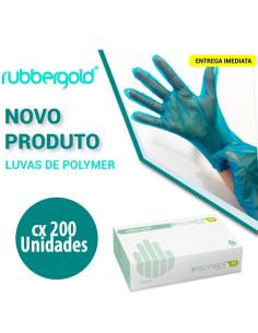 Luvas de Polymer Azul Sem Pó - 200 unidades | Loja de Cosméticos